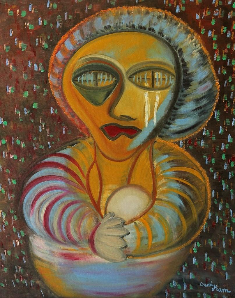 La Mère - huile 92 x 73