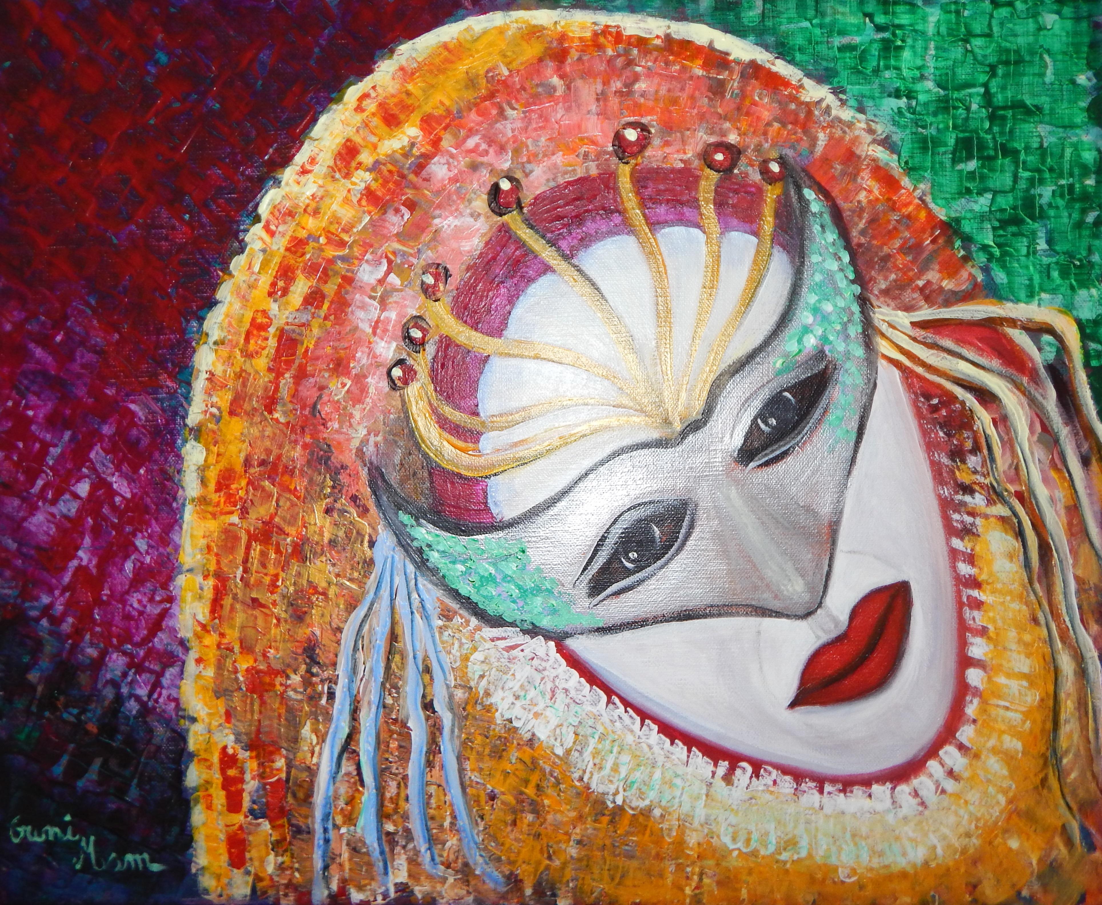 Masque vénitien II Acrylique 38x46