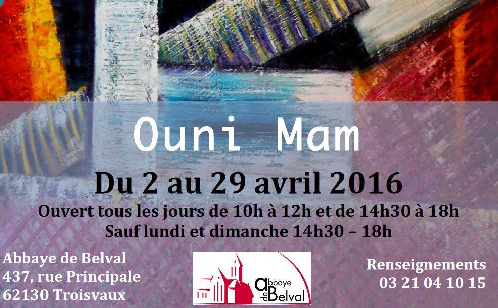 Exposition d'Ounimam à l'abbaye de Belval